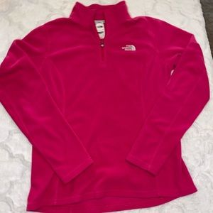 North Face Fleece Pullover Pink Medium Light